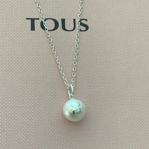 Tous Bear Pearl Silver Necklace